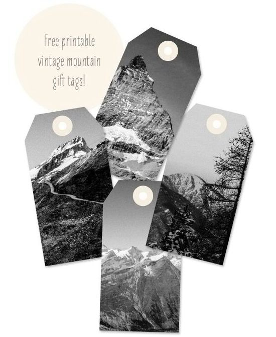 Mountain inspired DIY gift tag ideas ~ get creative with old surf magazines too!