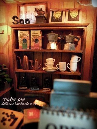 miniature coffee shop