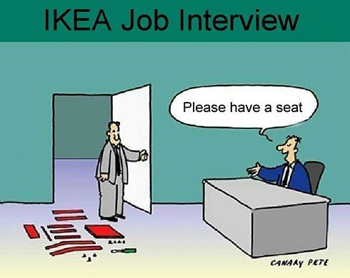 Ikea Job Interview quote - 36 of My Favorite Silly, Crazy or Funny Quotes of the Day