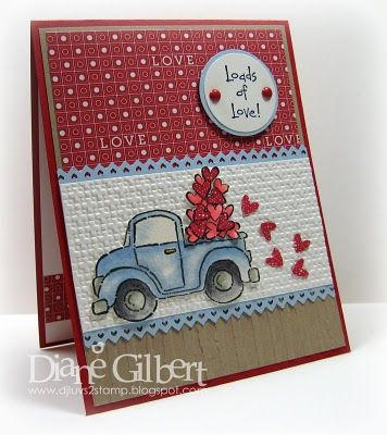 Truck full of hearts - I have this Stampin Up set -- Need to use it!