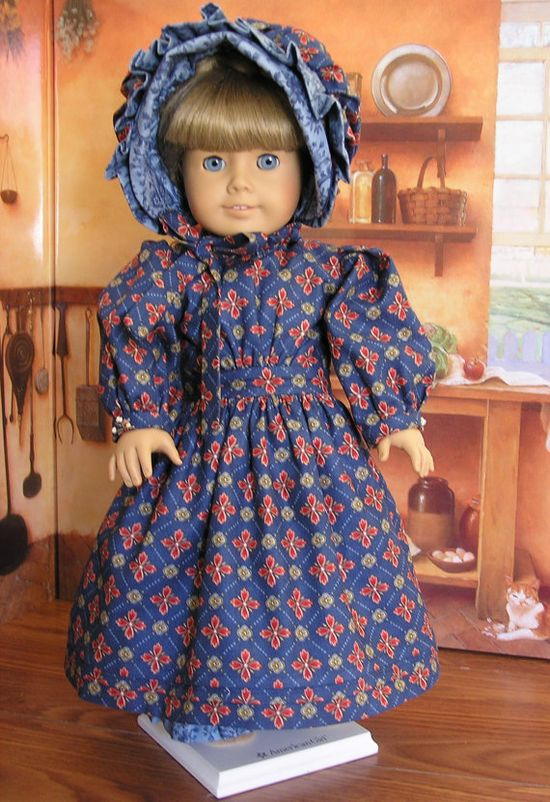 Pinafore and Dress for American Girl Doll by blinkersoh on Etsy