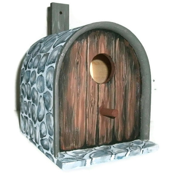 Birdhouse  Mailbox Birdhouse by JuliesGiftbox on Etsy, $25.00