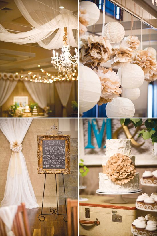 Jada- Especially the pom pom idea- Vintage & Rustic Wedding