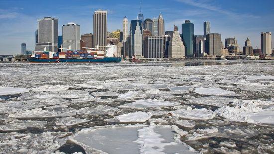 Il fait vraiment froid à New-York : pas chez nous !!! =)