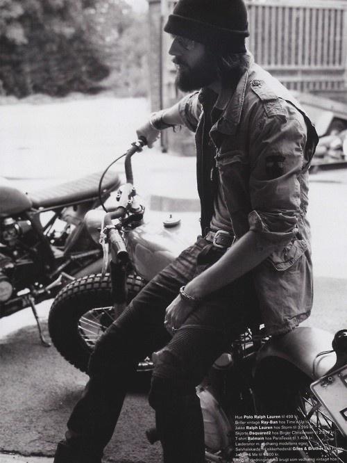 Beard optional. Motorcycle a must.