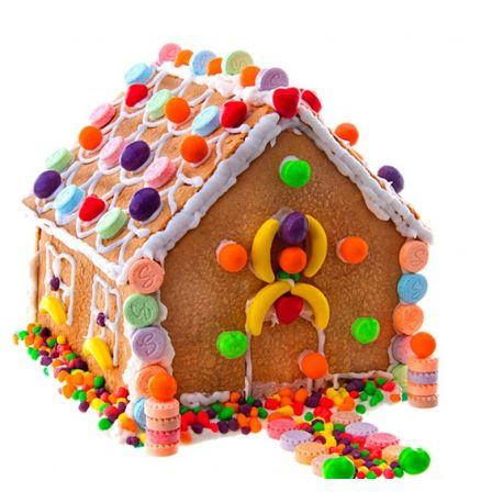 Maison en pain d'épices avec kit de décoration de Noël