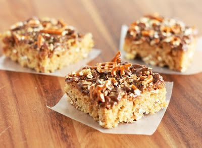 Peanut Butter Pretzel Rice Krispie Treats!