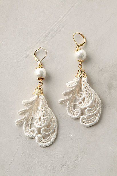 anthropologie lace earrings