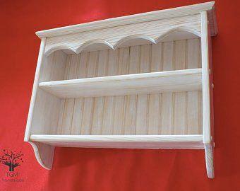 Wooden Shelves 2.8x22cm Solid Oak Supported ShelfHandmade Black Iron Bracket