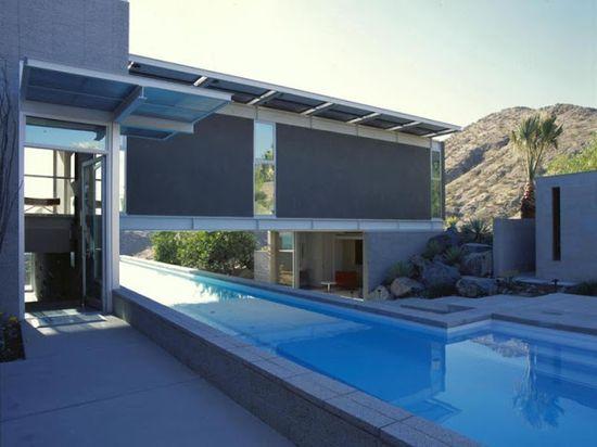 Unique Rare Home: Amazing Modern Home Above The Pool, Rancho Mirage, California