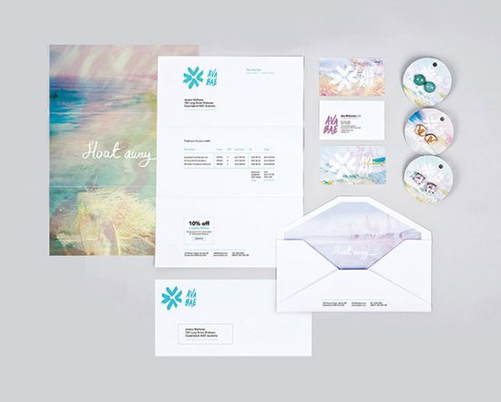 Graphic Designer // Emma Brownson [Ava Bae branding, logo, business card, packaging, office stationery, pastel, watercolour, pretty]