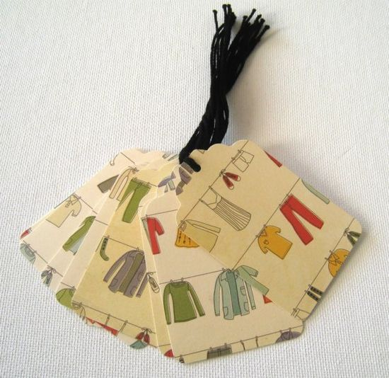 wrapping paper tags