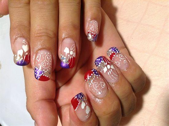 Hand painted  by rosielena - Nail Art Gallery nailartgallery.na... by Nails Magazine www.nailsmag.com #nailart