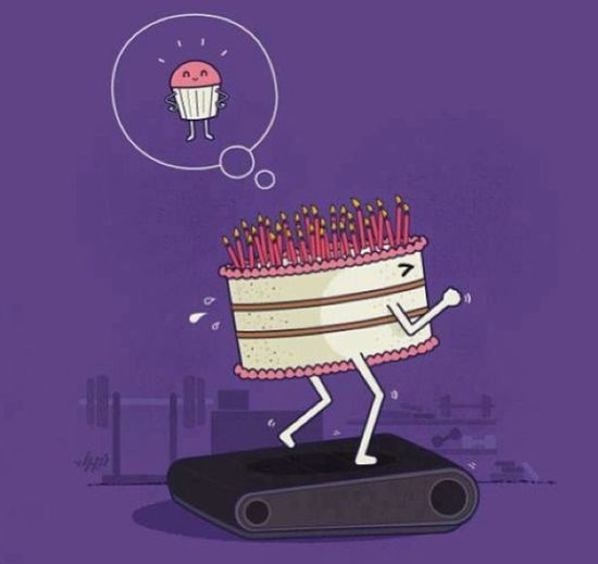 Haha exercising cake!