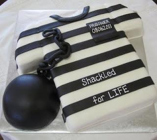 Ball and Chain Groom's Cake