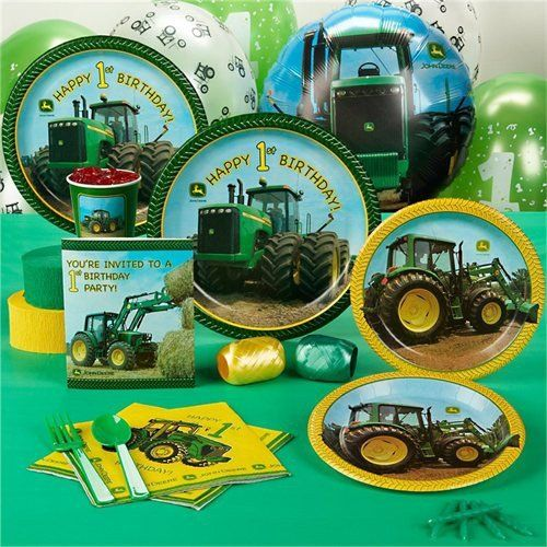 John Deere 1st Birthday Standard Party Pack for 16 Party Accessory - List price: $51.90 Price: $33.59