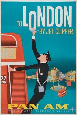 London UK (Vintage Travel Poster)