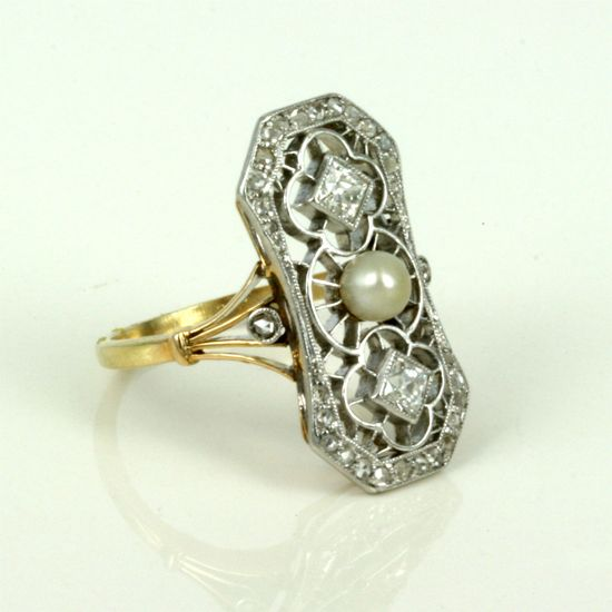 Circa 1925 pearl and diamond