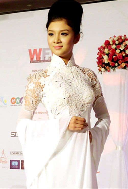 White lace Ao Dai
