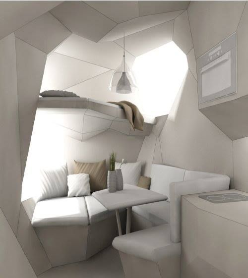 Futuristic tiny home design...just... wow.