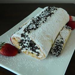 Cannoli Cake Roll