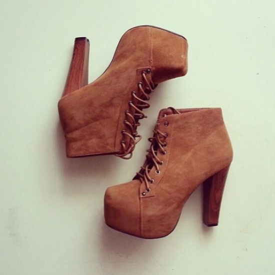 Heel boots. Loveeee them. I have leather ones in this color. Love this suede style!