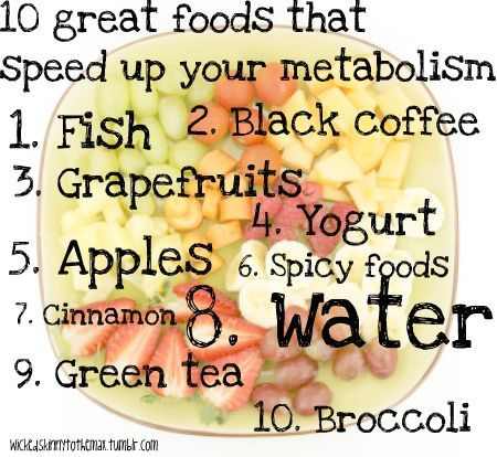 10 Great foods that speed up your