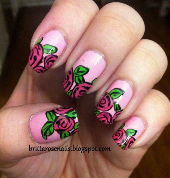 34 Beautiful Pastel Nails Design With Flowers