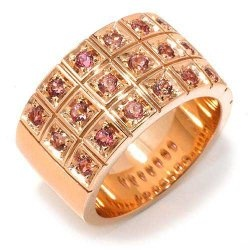Lovely!! gold ring with pink tourmaline.