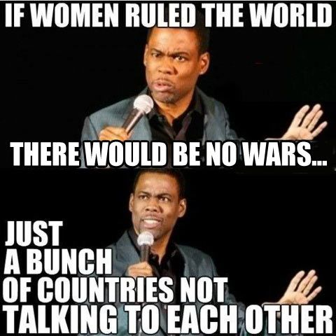 If women dominated the world…
