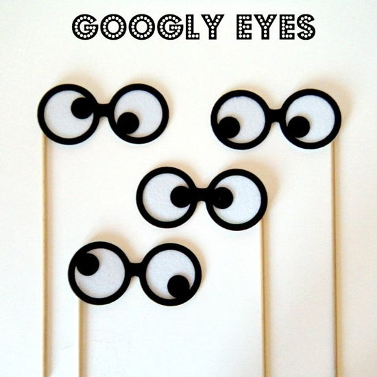Photobooth prop Googly Eyes on a stick by KittyDuneCuts on Etsy, $12.00
