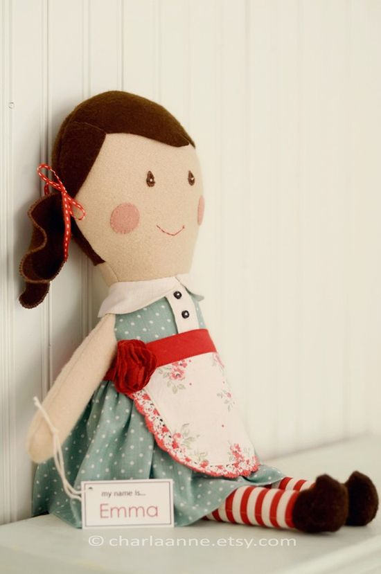 An adorable handmade doll