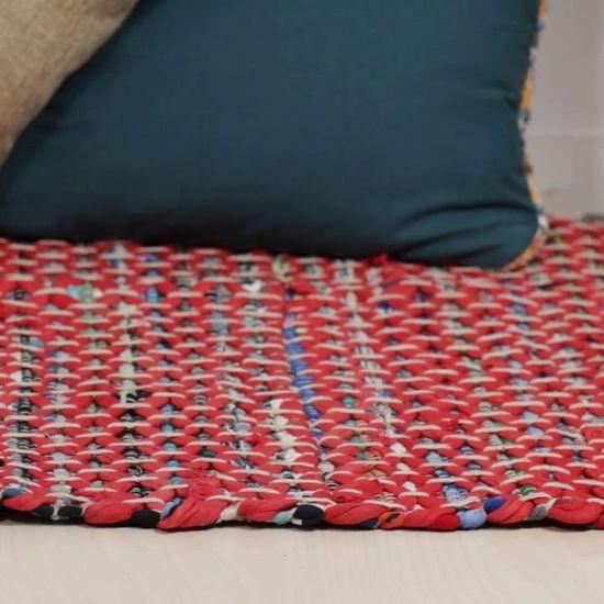 Upcycled T-shirt Woven Rug #DIY #rug - #DIY #rug #tapis #TShirt #upcycled #Woven