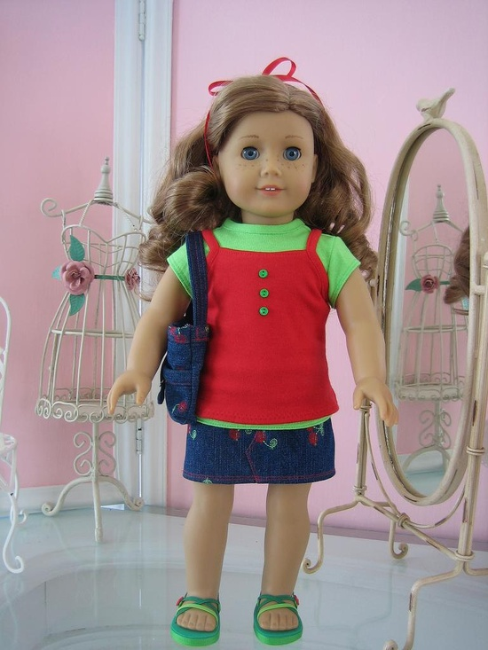 Etsy Transaction - Mini skirt set made to fit 18 inch American Girl doll