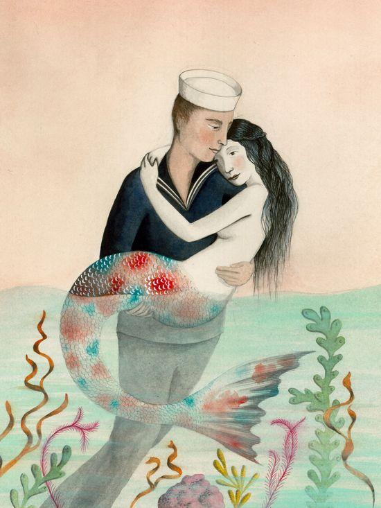 Mermaid Sirens with Jewelry John William Waterhouse Art Poster Repro FREE S//H
