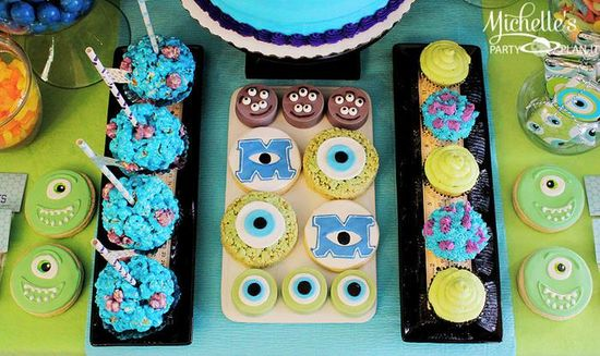 Cookies at a Monster's University Birthday party via Kara's Party Ideas