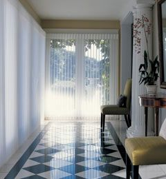 A grand entrance with classic tile flooring