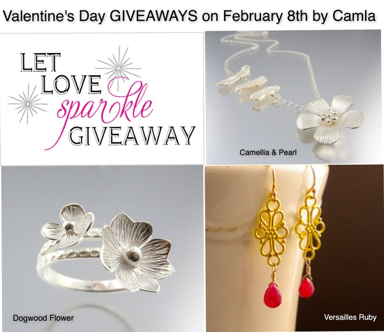 Valentine's Day GIVEAWAYS this Friday, February 8. Like Camla FB to win these fabulous jewelry!