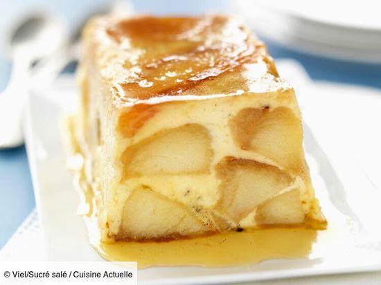 Recette Terrine fondante pommes caramel. Ingrédients (6 personnes) : 4 Pommes, 5 œufs, 45 cl de lait... - Découvrez toutes nos idées de repas et recettes sur Cuisine Actuelle