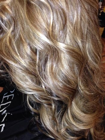 Beautiful curls and highlights.