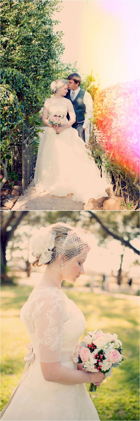 Vintage style bridal photos ~ Photo: Joyeuse Photography