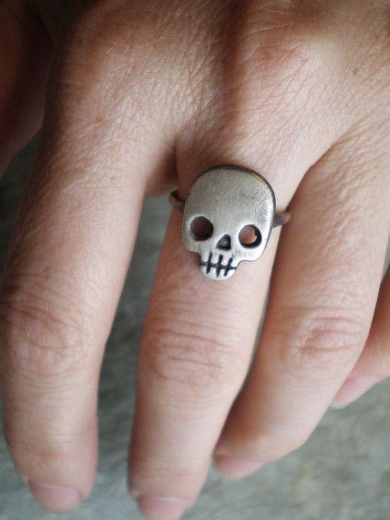 Skull Ring by axelhoney on Etsy, $115.00