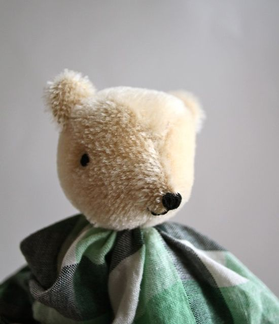 Mohair Baby Bear Waldorf inspired toy - Just the cutest!