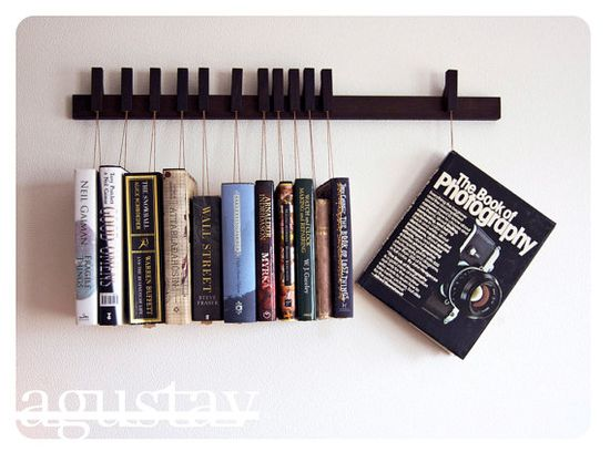 cool way to show off books