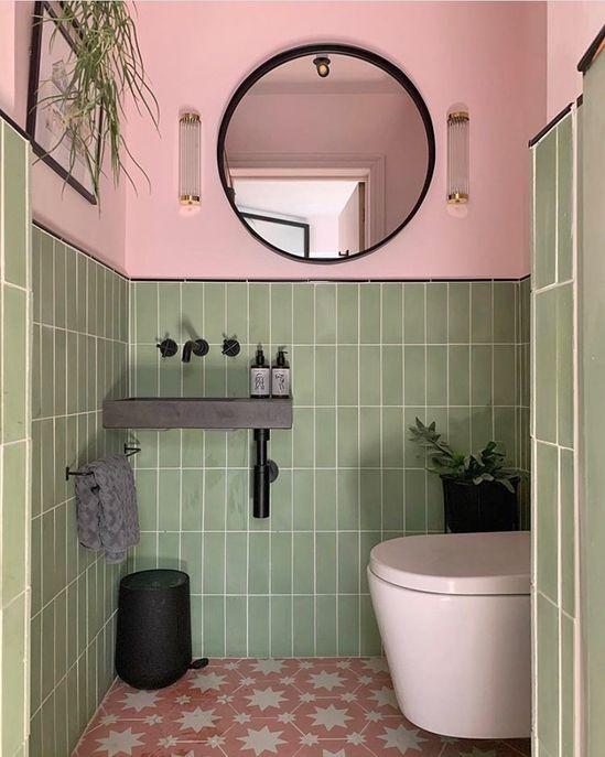 Que lindeza esse lavabo com as cores do DDB!