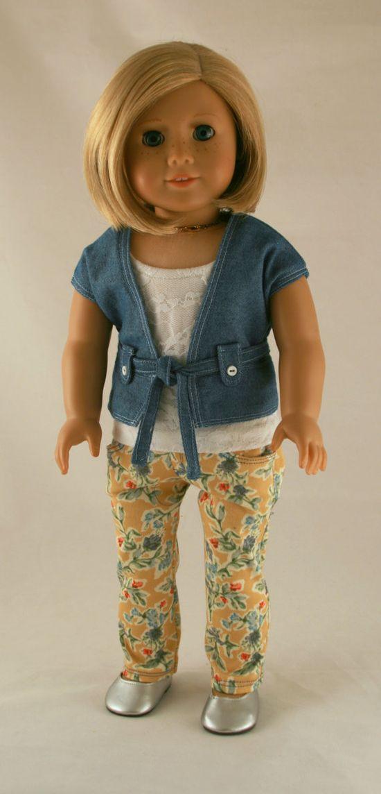 Cute floral jeans