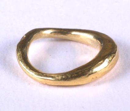 Gold Organic ring by Ann Culy