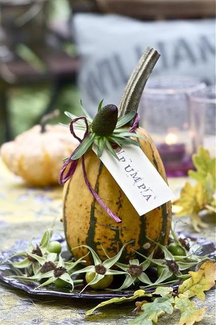 gourd place card