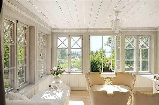 The elegance of Scandinavian country style interior design lounge room