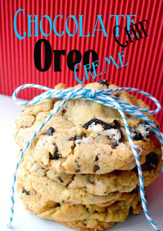 My New Favorite Cookie!! Chocolate Chip Oreo Cremes! {Recipe}